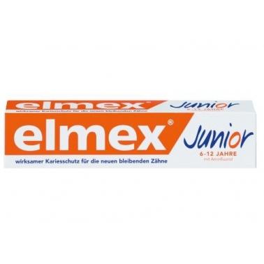 德国直邮 原装Elmex儿童牙膏 6-12岁 含氟 预防龋齿 75ml